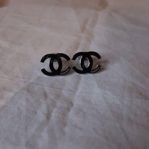 Chanel Classic Logo Earrings